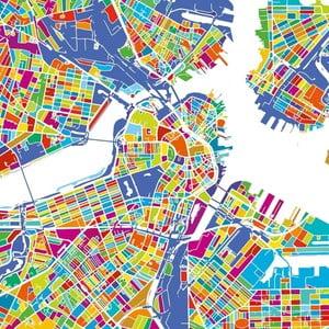 Obraz Homemania Maps Boston, 60×60 cm