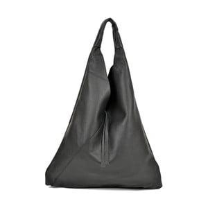 Čierna kožená kabelka Anna Luchini Penny