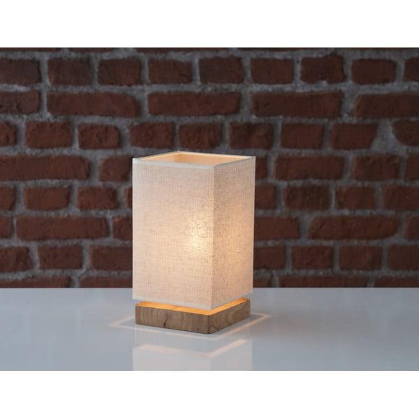 Stolová lampa s drevenou základňou Homemania Jacobo