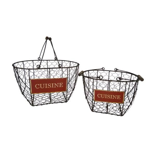 Sada 2 kovových košíkov Antic Line Cuisine Basket