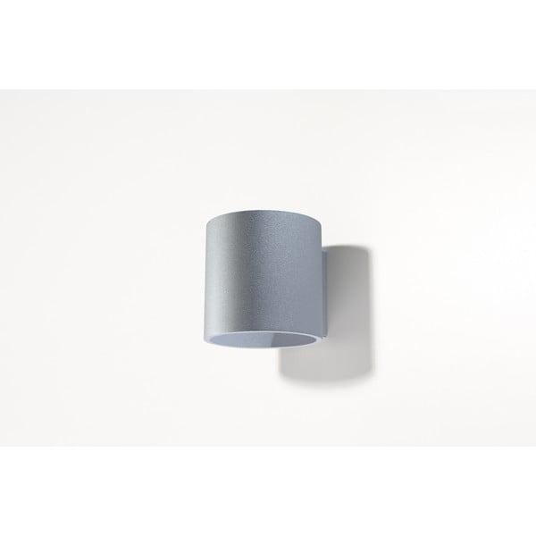 Sivé nástenné svetlo Nice Lamps Roda 1