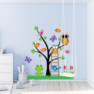 Sada detských samolepiek na stenu Ambiance Owls Tree