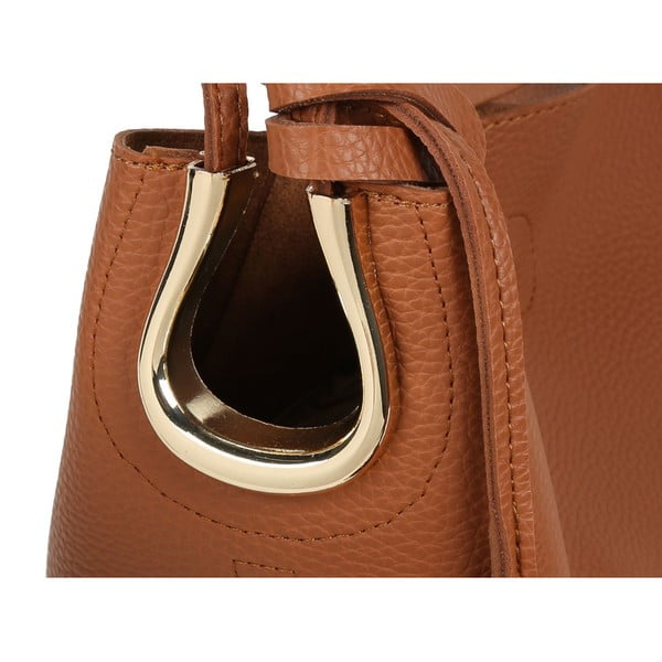 Hnedá kabelka z eko kože Beverly Hills Polo Club Rita