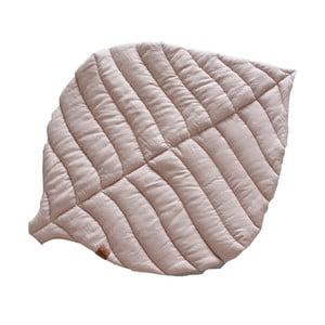 Ružovosivá detská ľanová deka VIGVAM Design Buk