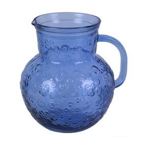 Modrý sklenený džbán Ego Dekor Flora, 2,3 litra