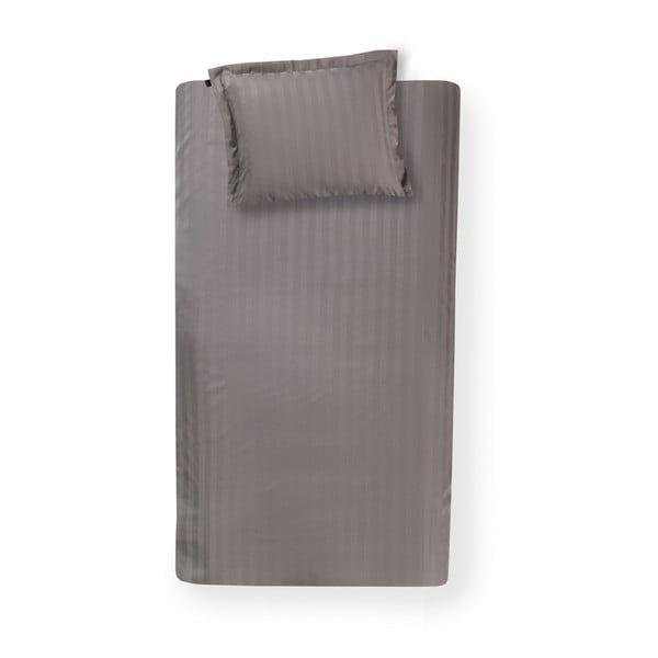 Hnedé bavlnené posteľné obliečky Damai Linea Cement, 200 x 140 cm