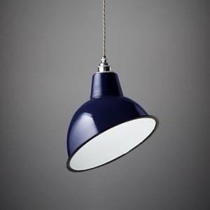 Závesné svetlo Angled Cloche Midnight Blue