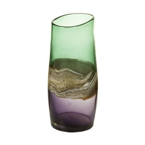Ručne vyrábaná krištáľová váza Santiago Pons Forest, výška 30 cm