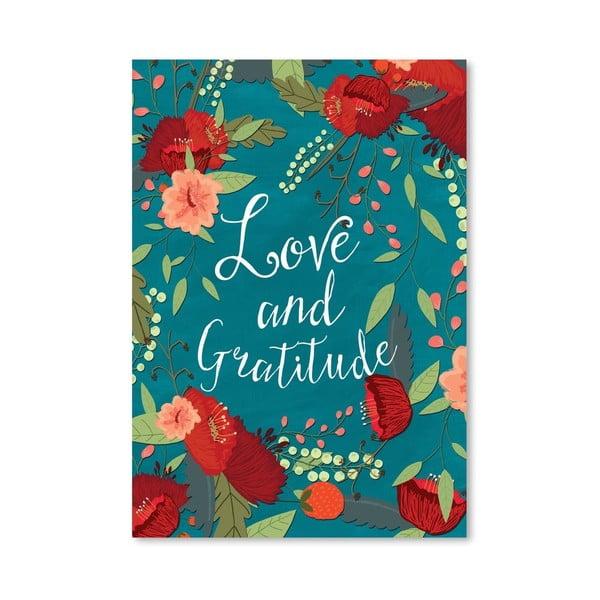 Plagát od Mia Charro - Love And Gratitude