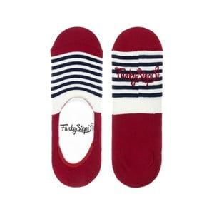 Červené nízke ponožky Funky Steps Stripes, veľkosť 39 - 45