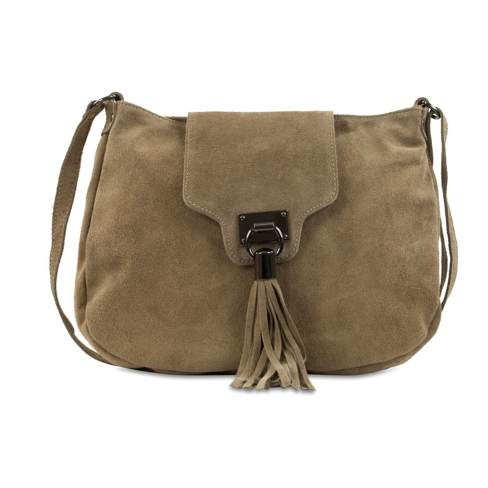 Béžová kabelka z nubukovej kože Infinitif Pexine f6a8f8feaf9