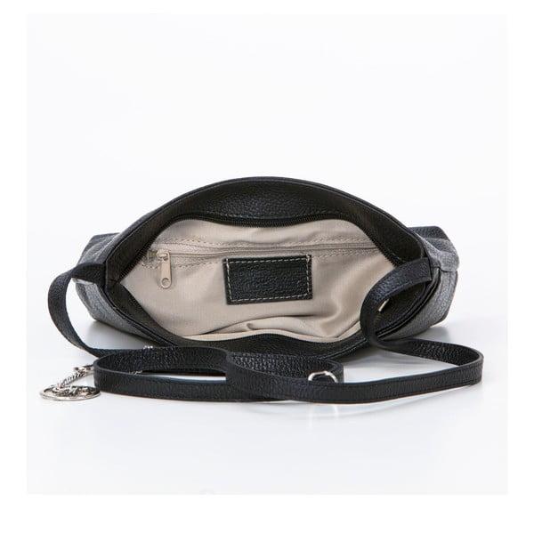 Kožená kabelka Francesco, čierna