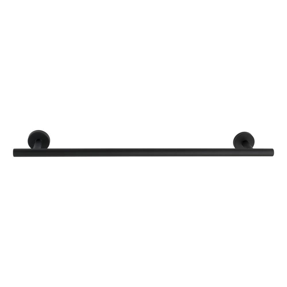 Čierny antikoro nástenný držiak na uteráky Wenko Bosio Rail Uno