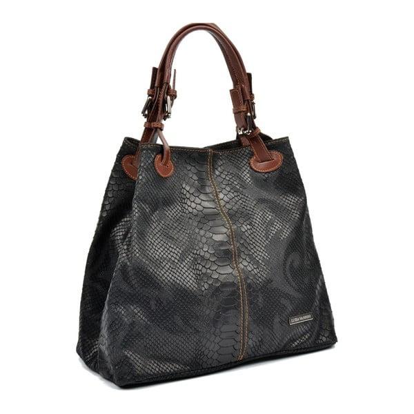 Čierna kožená kabelka Luisa Vannini Amalia