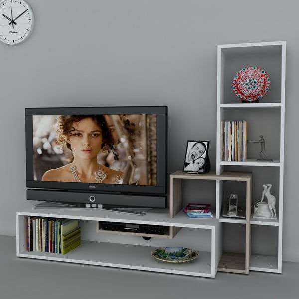 Televíizna stena Stab White/Cordoba, 39x143,6x123,4 cm