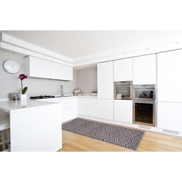 Vysokoodolný kuchynský koberec Hellenic Grey, 80x130 cm