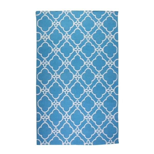Vlnený koberec Geometry Orient Blue & White, 160x230 cm
