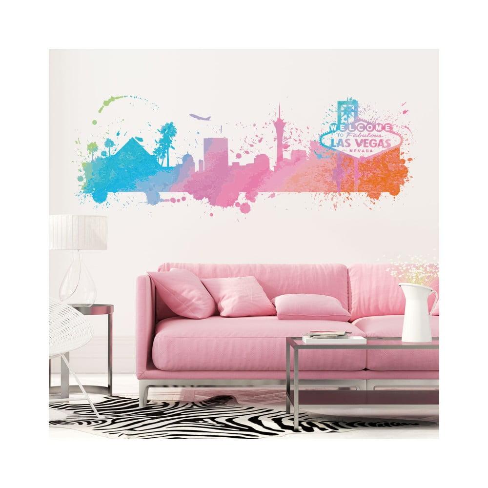 Nástenná samolepka Ambiance Wall Decal Las Vegas Watercolor, 40 × 85 cm