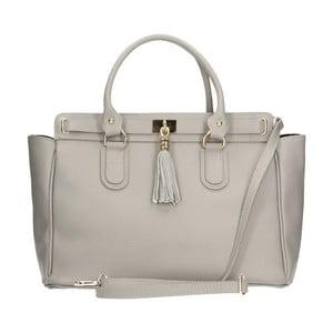 Sivá kožená kabelka Chicca Borse Basico