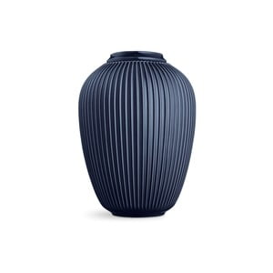 Tmavomodrá voľne stojacia kameninová váza Kähler Design Hammershoi, výška 50 cm