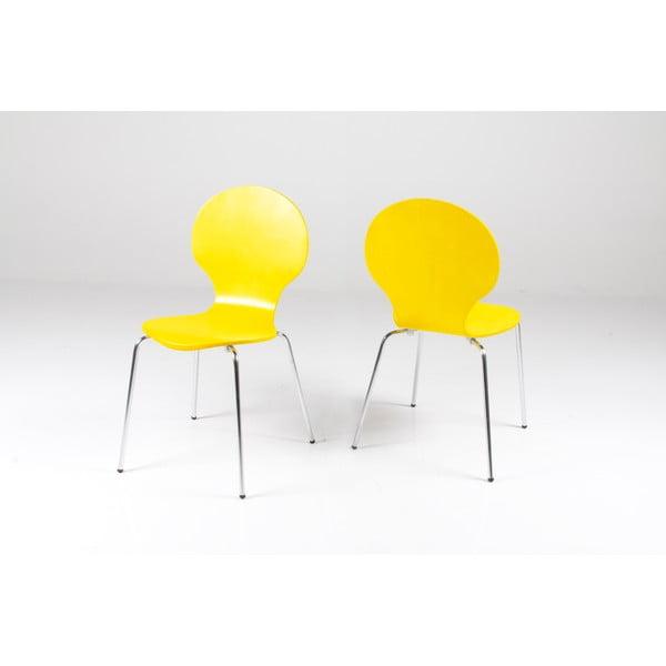 Žltá jedálenská stolička Actona Marcus