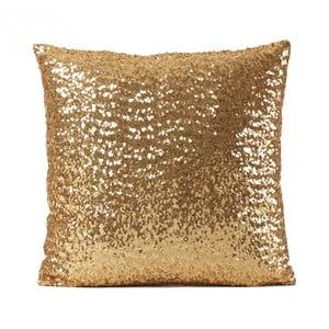 Obliečka na vankúš v zlatej farbe Luxuro, 40 x 40 cm