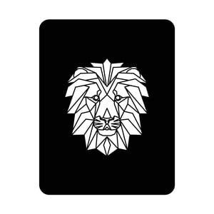 Nástenná svetelná dekorácia Lion, 67 × 82 cm