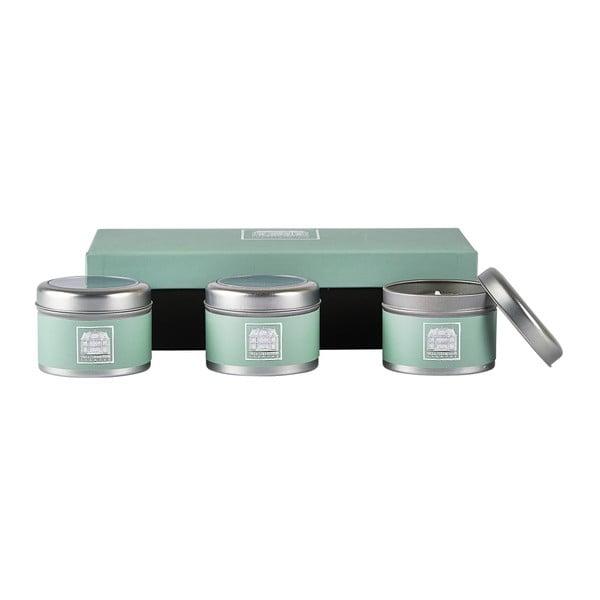 Sada 3 sviečok s vôňou kokosovej limetky a verbeny Villa Collection
