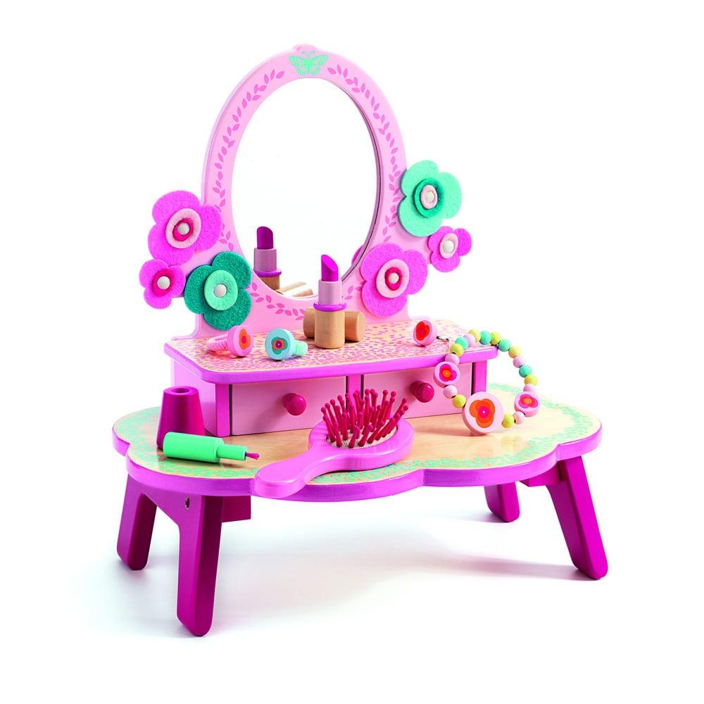 Detský drevený toaletný stolík Djeco Flora