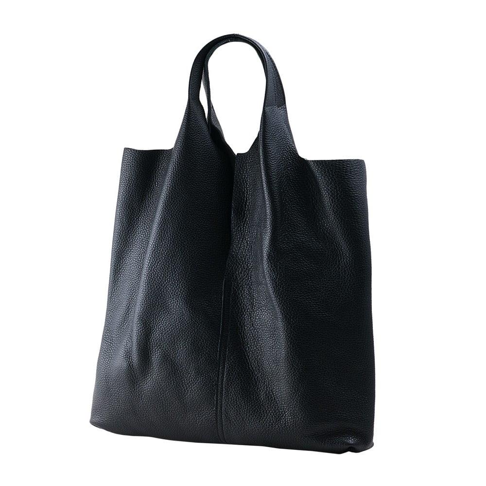 Čierna kabelka z kože Andrea Cardone ab916cdf44e