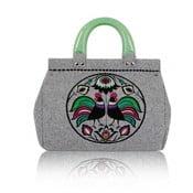 Plstená vyšívaná kufríková kabelka Goshico Folk Kohúti