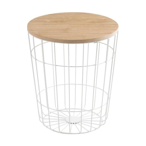 Biely odkladací stolík Actona Lotus Light, Ø34 cm