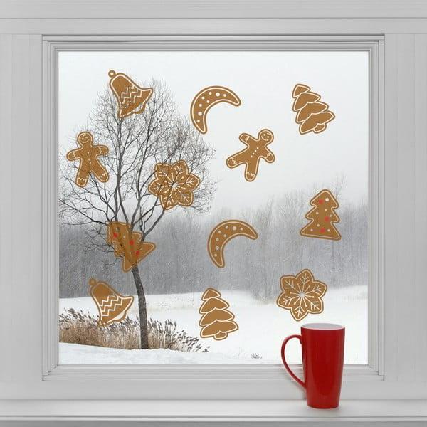 Elektrostatické vianočné samolepky Cukrovinky