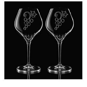 Sada 2 pohárov na víno Grapes so Swarovski Elements v luxusnom balení