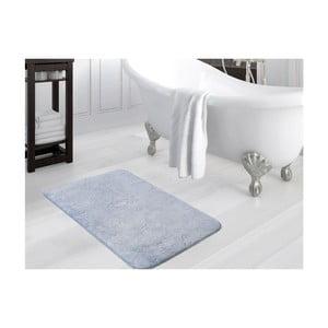 Modrá kúpeľňová predložka Smooth, 80×140 cm