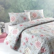 Pléd cez posteľ na dvojlôžko s obliečkami na vankúše Sandiego, 200×220 cm
