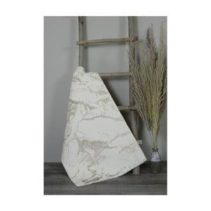 Béžová bavlnená kúpeľnová predložka My Home Plus Sensation, 60×100 cm