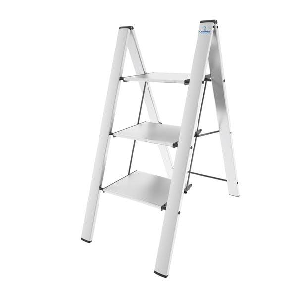 Skladací rebrík Leonardo 3, biely
