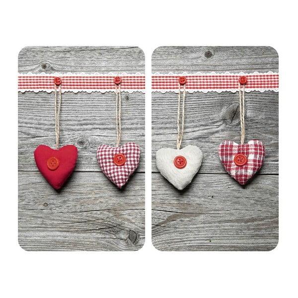 Sada 2 sklenených krytov na sporák Wenko Hearts