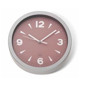 Ružové nástenné hodiny Kela Mailand, ø 20 cm
