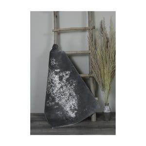 Tmavosivá bavlnená kúpeľnová predložka My Home Plus Sensation, 60×60 cm