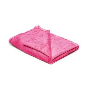 Ružová mikroplyšová deka My House, 150×200 cm