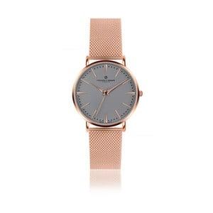 Unisex hodinky s antikoro remienkom v ružovozlatej farbe Frederic Graff Rose Eger Silver Mesh