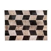 Vlnený koberec Allmode Black, 200x140 cm