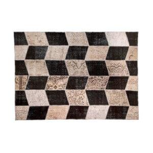 Vlnený koberec Allmode Black, 150x80 cm