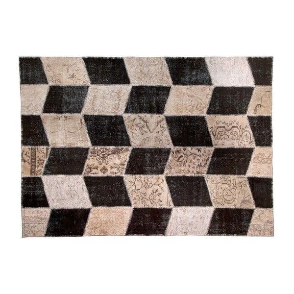 Vlnený koberec Allmode Black, 180x120 cm