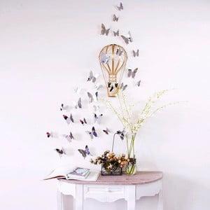 Sada 12 samolepiek s 3D efektom Ambiance Mirror Butterflies