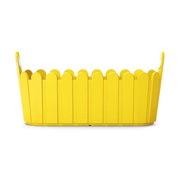 Kvetináč Jardiniére Yellow, 39x15x19 cm