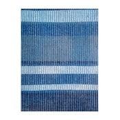 Modrý ručne tkaný vlnený koberec Linie Design Romina, 170 x 240cm