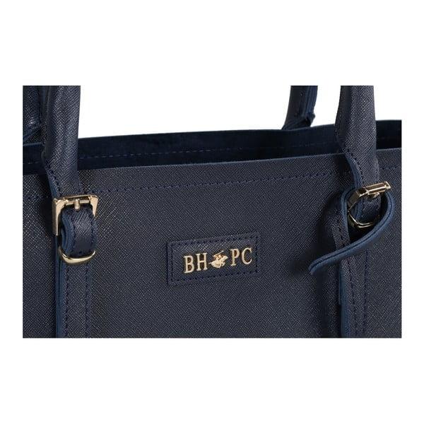 Tmavomodrá kabelka z eko kože Beverly Hills Polo Club Dina